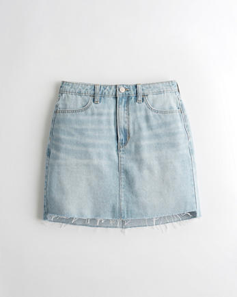 홀리스터 Hollister Ultra High-Rise Denim Skirt,MEDIUM