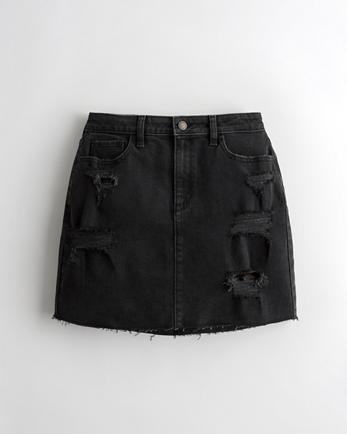 홀리스터 Hollister Vintage Stretch Ultra High-Rise Denim Skirt