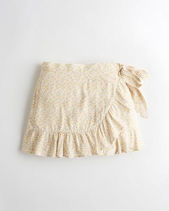 홀리스터 Hollister High-Rise Ruffle-Hem Wrap Skort
