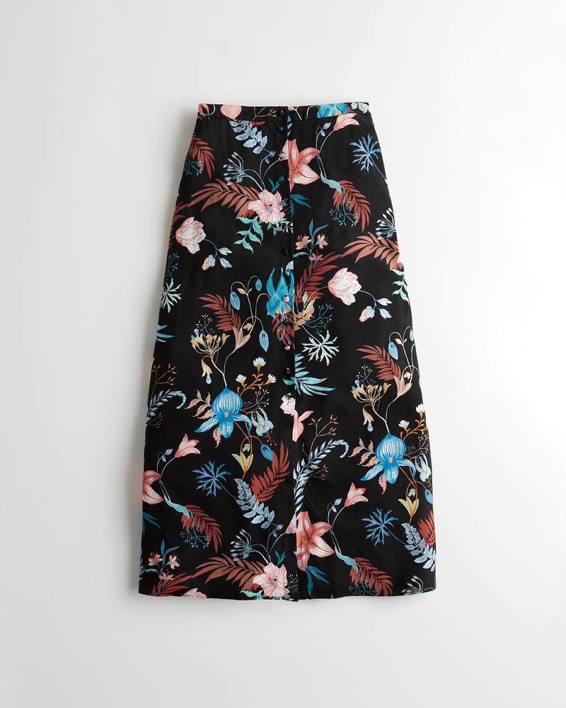 67a5251dd056e4 Girls Ultra High-Rise Midi Skirt | Girls Sale | HollisterCo.com