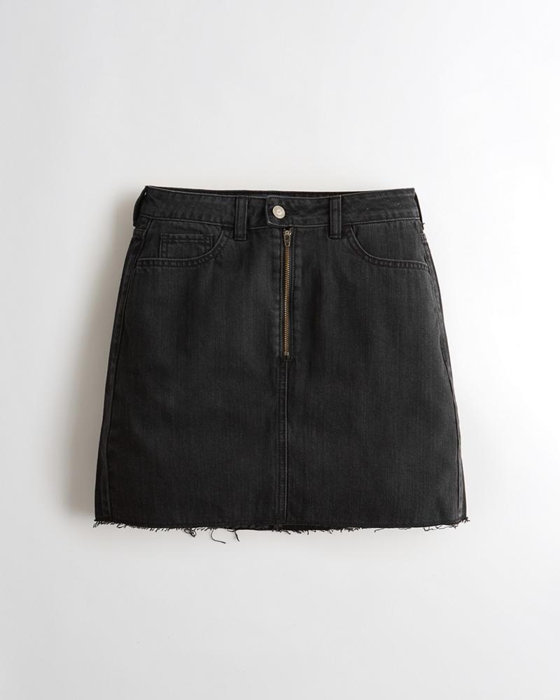 03d7c876714029 Girls Ultra High-Rise Denim Skirt | Girls Clearance | HollisterCo.com
