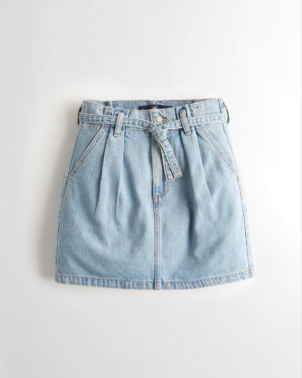 cfbad202327649 Girls Ultra High-Rise Paper-Bag Denim Skirt | Girls Bottoms ...