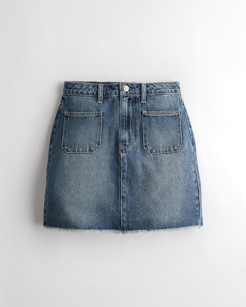 02950d92a1cbe7 Girls Ultra High-Rise Denim Skirt | Girls Clearance | HollisterCo.ca