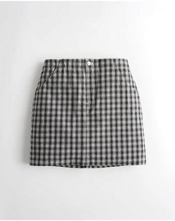 e053b4db473637 Ultra High-Rise Plaid Skirt, BLACK & WHITE PLAID