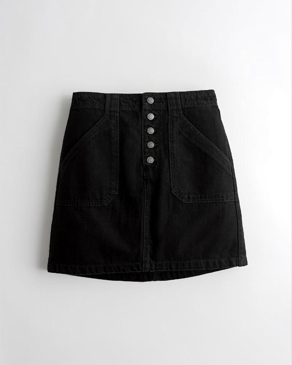 e6742c02ab124 Girls Ultra High-Rise Denim Skirt | Girls Bottoms | HollisterCo.com