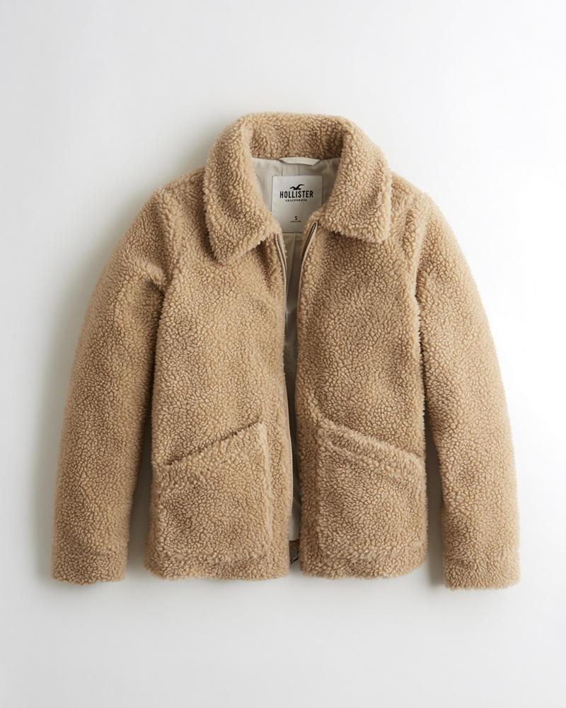 5dbfd438dc4 Girls Oversized Faux Fur Coat