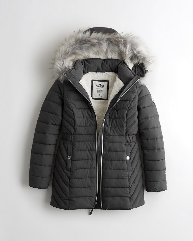 8567026d9707 Girls Sherpa-Lined Puffer Parka