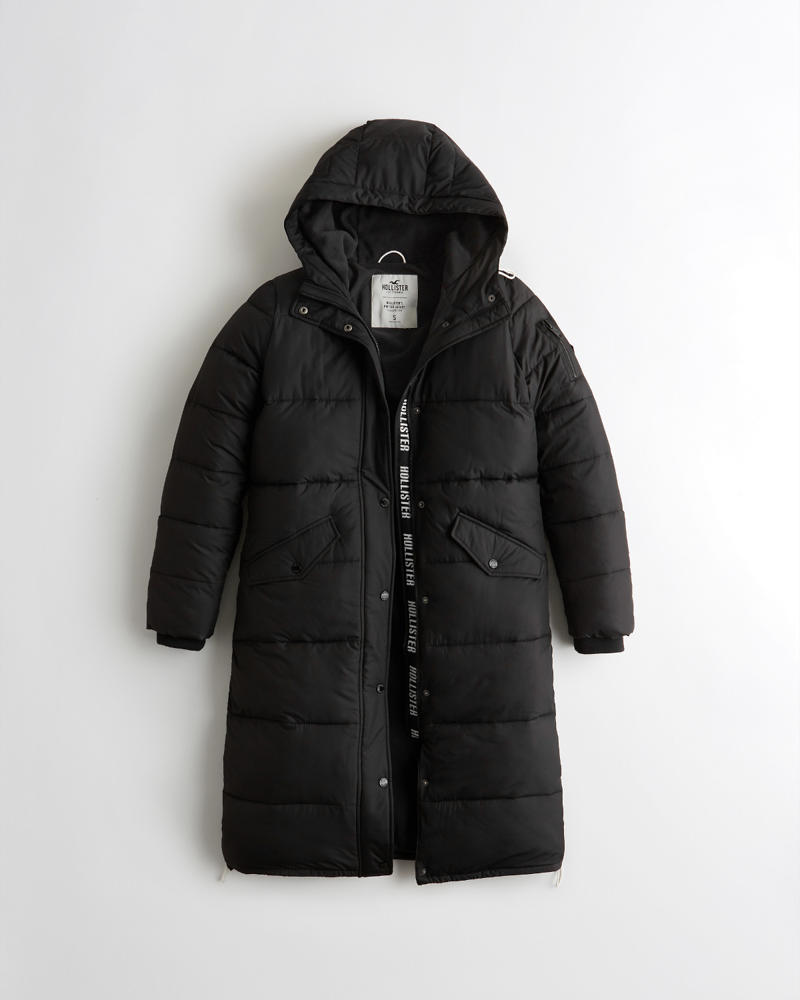 63cfb7e1a82d Girls Longline Puffer Parka | Girls Jackets & Coats | HollisterCo.com