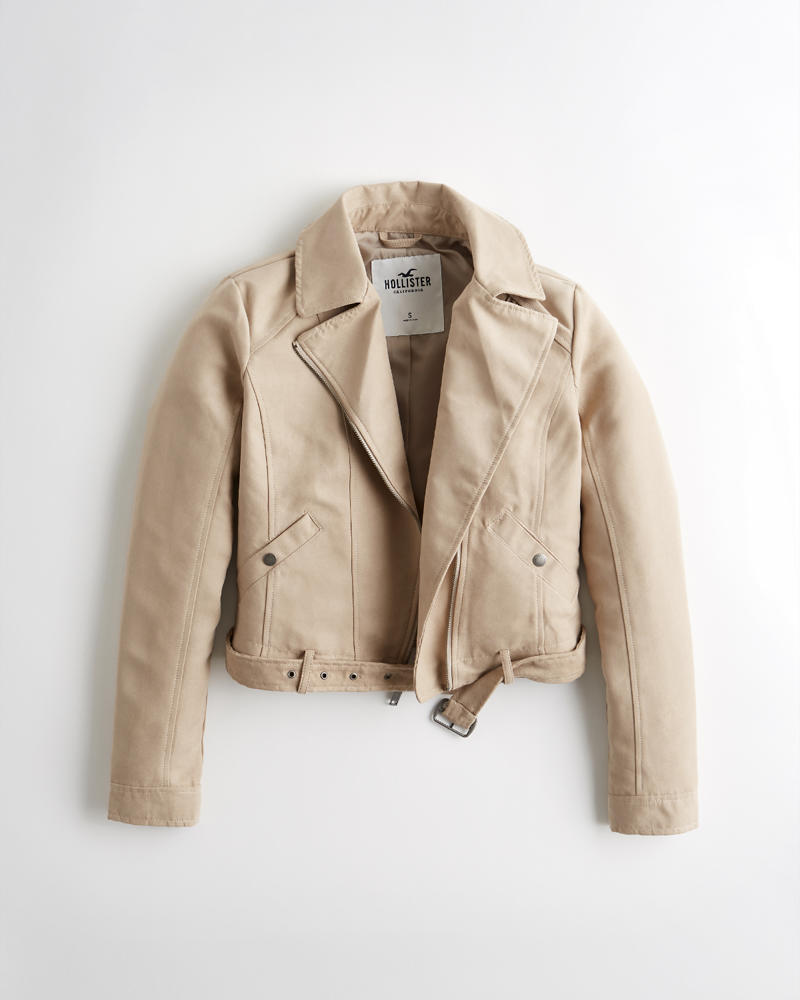 e553e78d8f76 Girls Faux Suede Biker Jacket | Girls Sale | HollisterCo.com