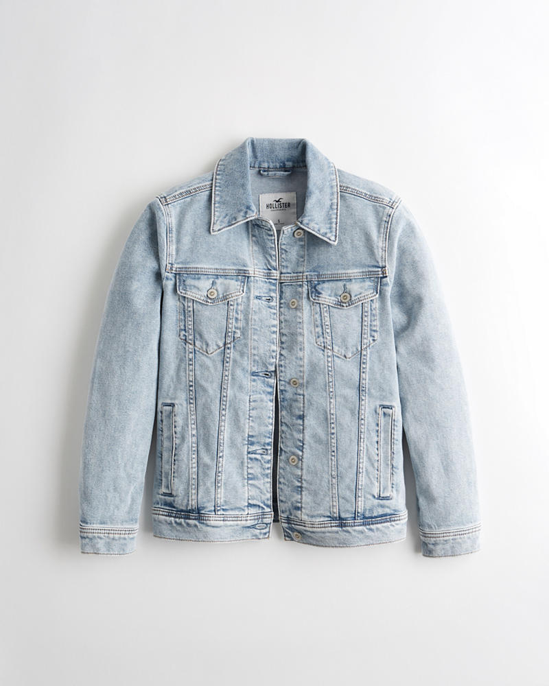 ae79c5cba Girls Stretch Boyfriend Denim Jacket | Girls Jackets & Coats ...