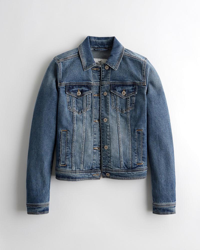 614dff145ee8 Girls Stretch Denim Jacket | Girls Jackets & Coats | HollisterCo.com