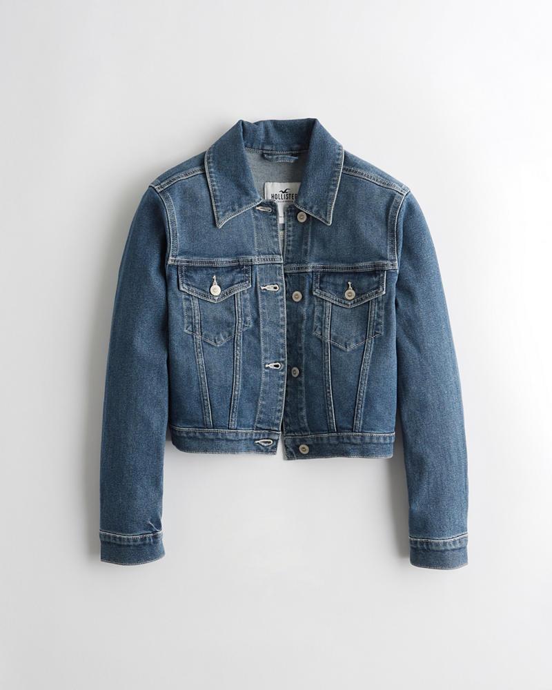 04bb3d8c5443 Girls Stretch Crop Denim Jacket | Girls Jackets & Coats ...