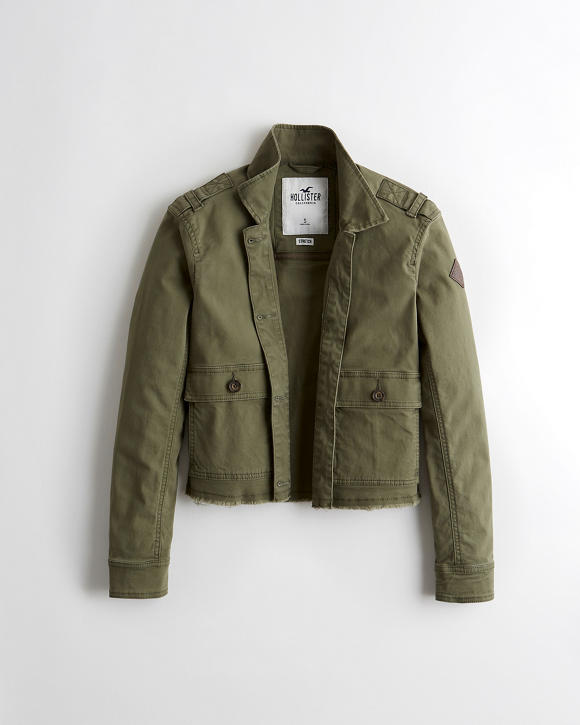 Crop Utility Shirt Jacket by Hollister