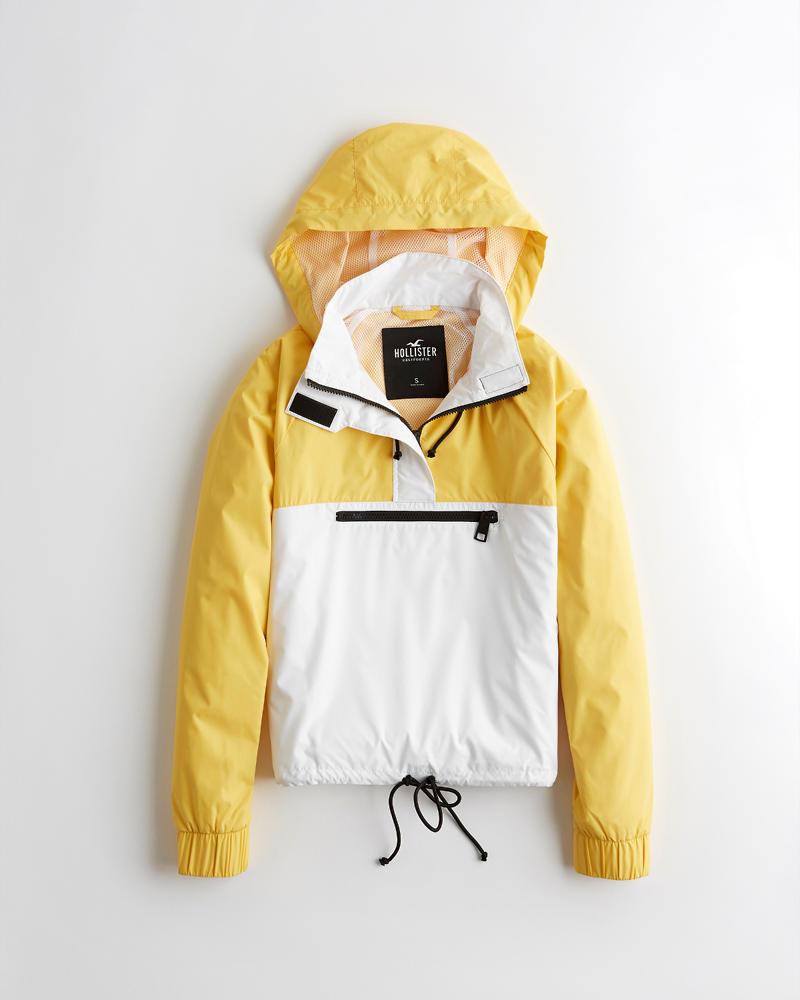 Mädels Windbreaker Jacke mit Kapuze, halblangem