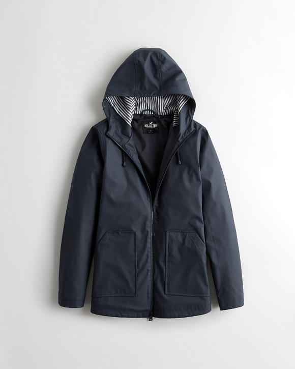 Hooded Raincoat by Hollister