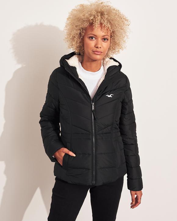 Mädels Winterjacke mit Sherpa Futter   Mädels Sale