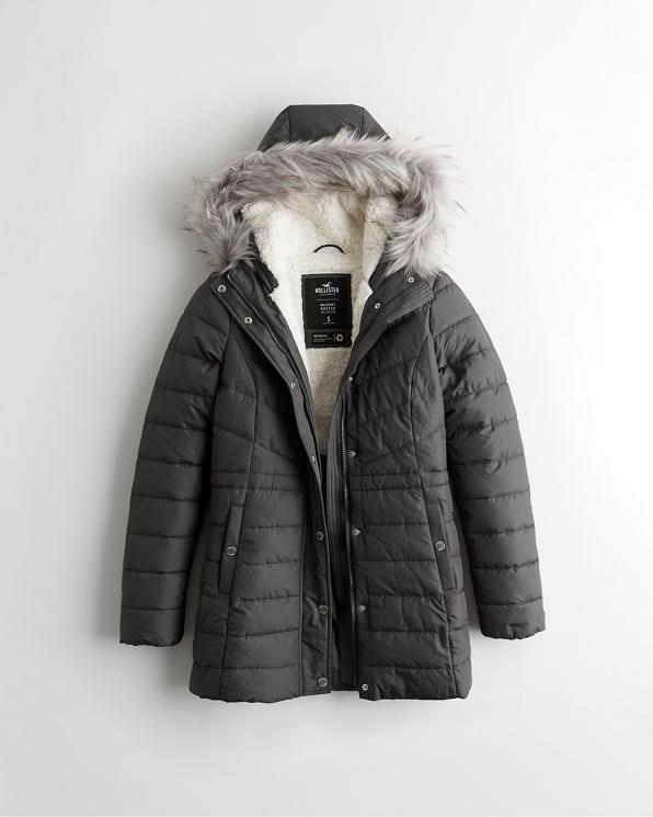 Mädels Winterparka mit Sherpa Futter   Mädels Nur online
