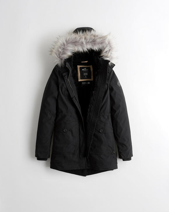Cozy Lined Parka by Hollister
