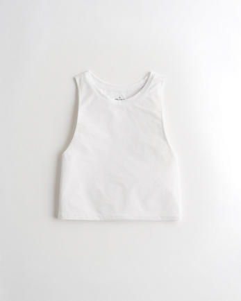 홀리스터 크롭 탱크탑 Hollister Gilly Hicks Go Crop Tank,WHITE
