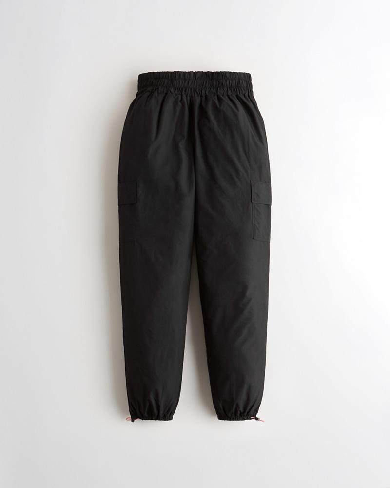 Chicas Pantalones cortavientos de tiro muy alto  cb0b94b375a24