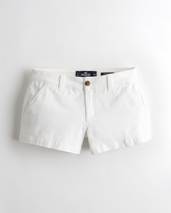 classic-stretch-mid-rise-twill-short-3-in by hollister