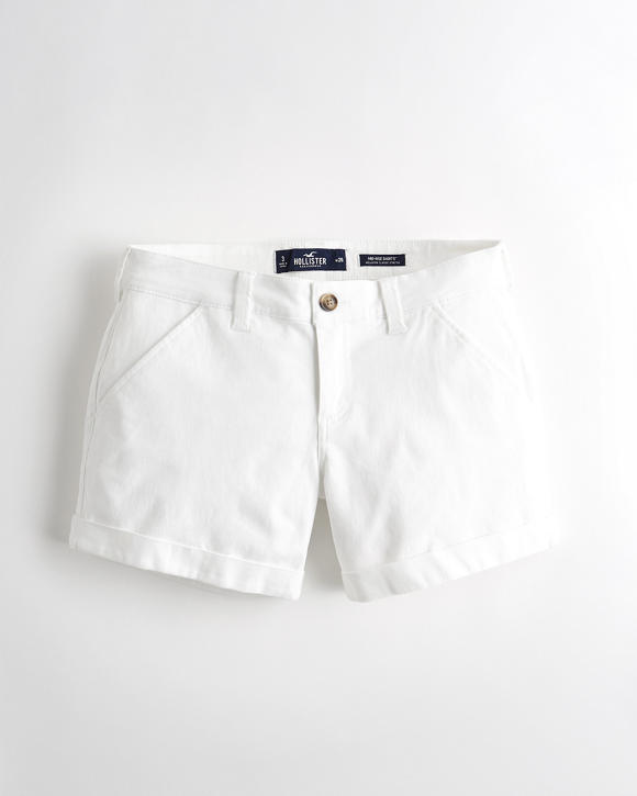 Classic Stretch Mid Rise Twill Short 5 In. by Hollister