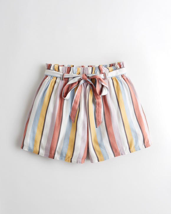Ultra High Rise Belted Rayon Short by Hollister