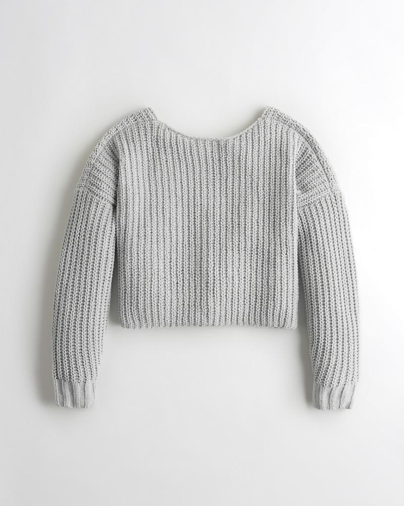Girls Slouchy Chenille Sweater | Girls Tops | HollisterCo.com