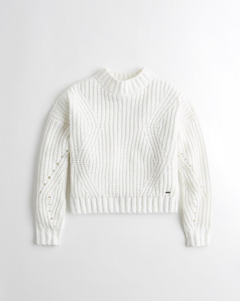 f11e977e2 Girls Chenille Mockneck Sweater