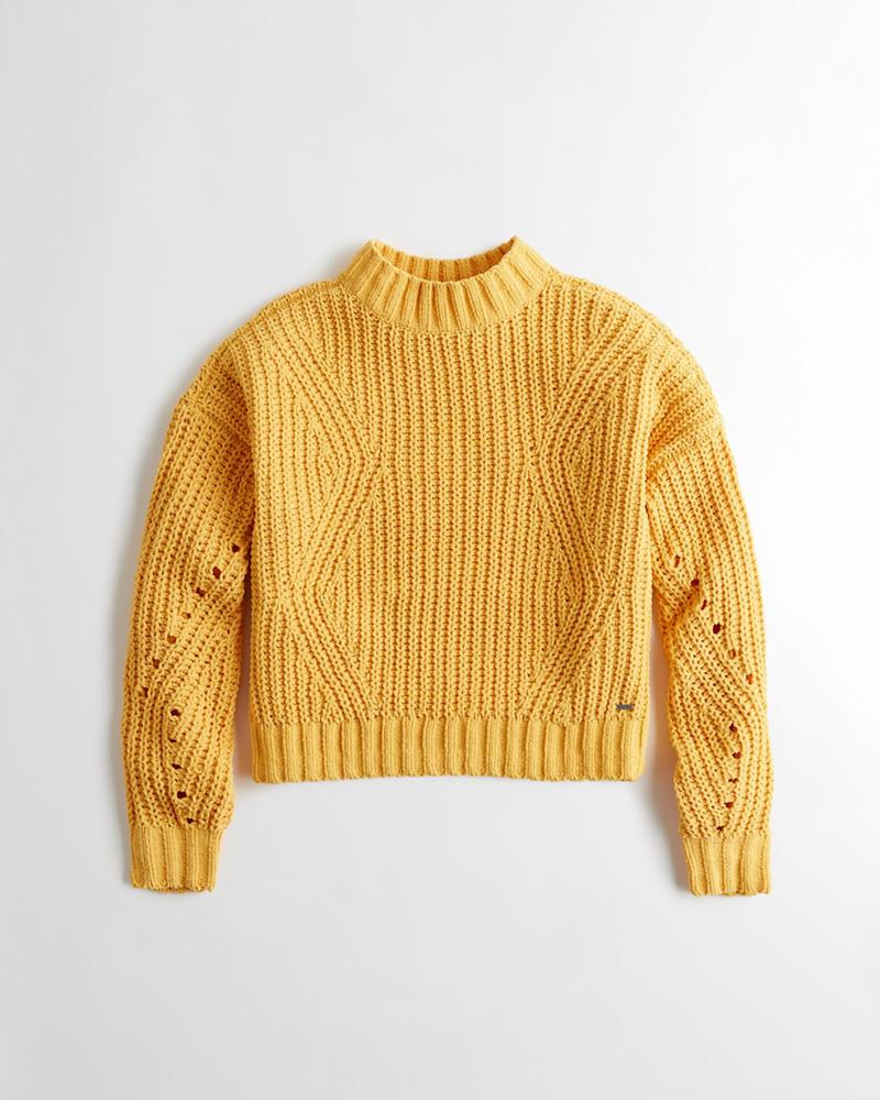 aa00f7262 Chenille Mockneck Sweater