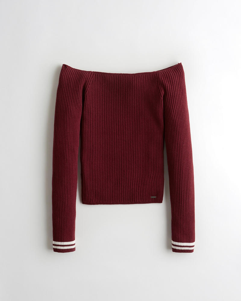 494d76a3e09 Girls Ribbed Off-The-Shoulder Sweater | Girls Clearance | HollisterCo.ca