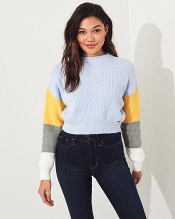 c0e60f1a1622 Colorblock Crewneck Sweater
