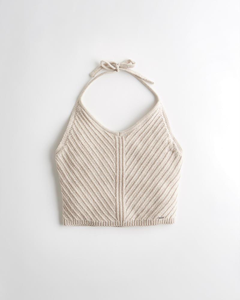 Girls Crochet Halter Ultra Crop Top Girls Sale Hollistercocom
