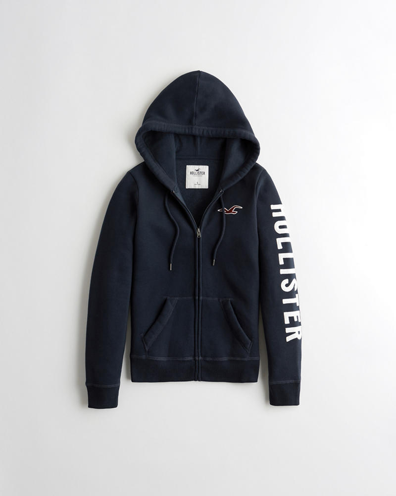 3f96f4045 Hollister Logo Graphic Full-Zip Hoodie   Hollister Gift Guide ...