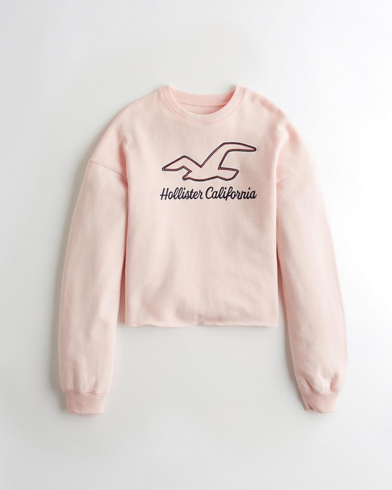 e2d1ac36124b Girls Cutoff Crewneck Sweatshirt