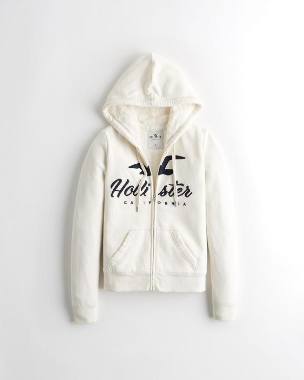 Girls Sherpa Lined Full Zip Hoodie | Girls Sale