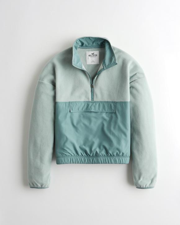 Half Zip Polar Fleece Sweatshirt by Hollister