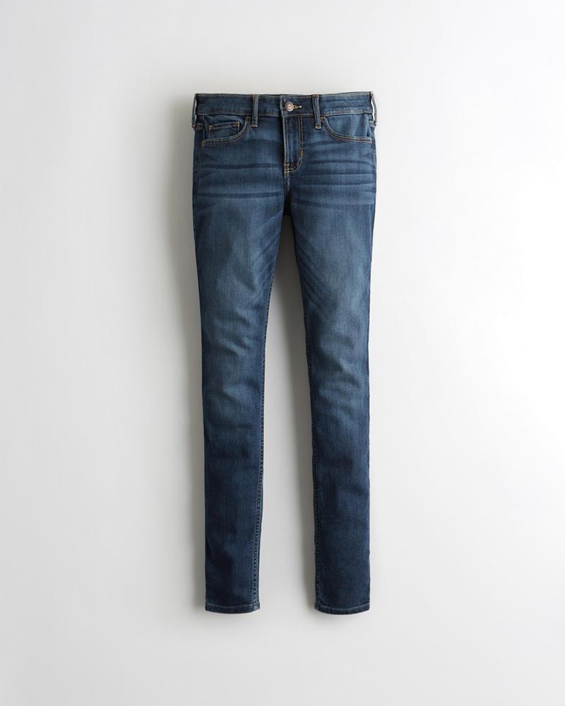 dd5ff364d Chicas Jeans superajustados elásticos de tiro bajo clásicos