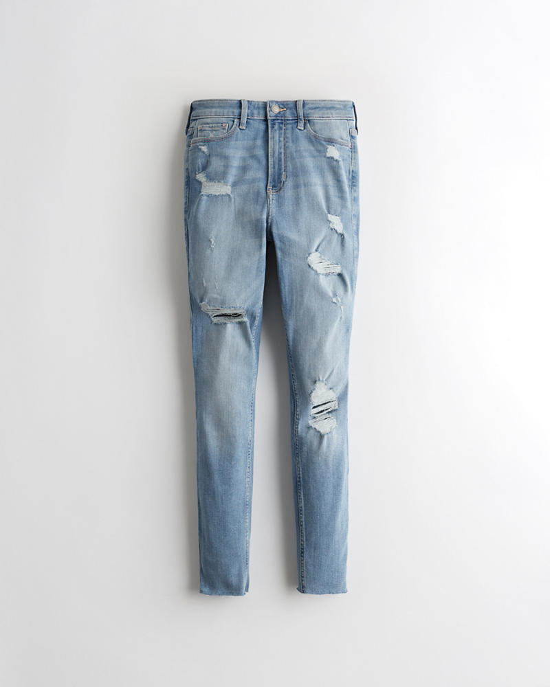 Mens Skinny Jean stretch de marque Designer Slim Fit Jeans Toutes Taille Tailles