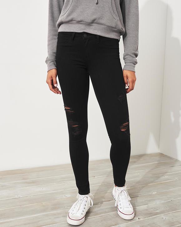 Girls Leggings de jean con tiro bajo y elasticidad avanzada   Girls ...
