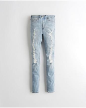 Jeans superajustados de tiro alto elásticos clásicos c33ef5a3f7707