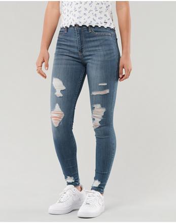 e02a0b068dc2e Ripped Jeans. Advanced Stretch High-Rise Jean Leggings, Shredded Medium