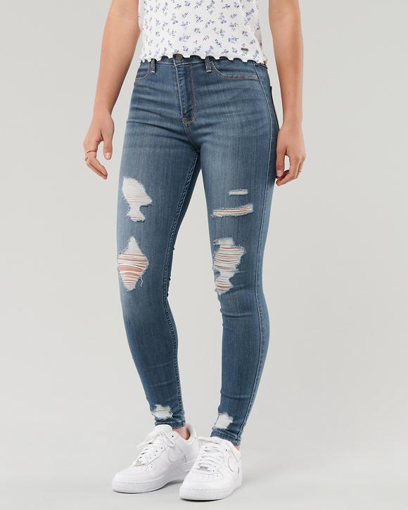 Girls Leggings de jean con tiro alto y elasticidad avanzada | Girls ...