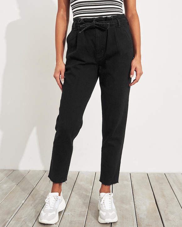 33ade139995 Girls Vintage Stretch Ultra High-Rise Paper-Bag Mom Jeans