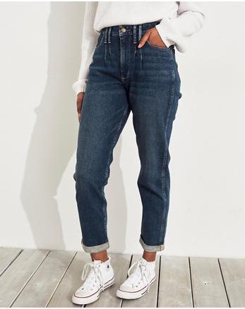 ea4d68919840 Vintage Stretch Ultra High-Rise Mom Jeans, DARK MEDIUM WASH