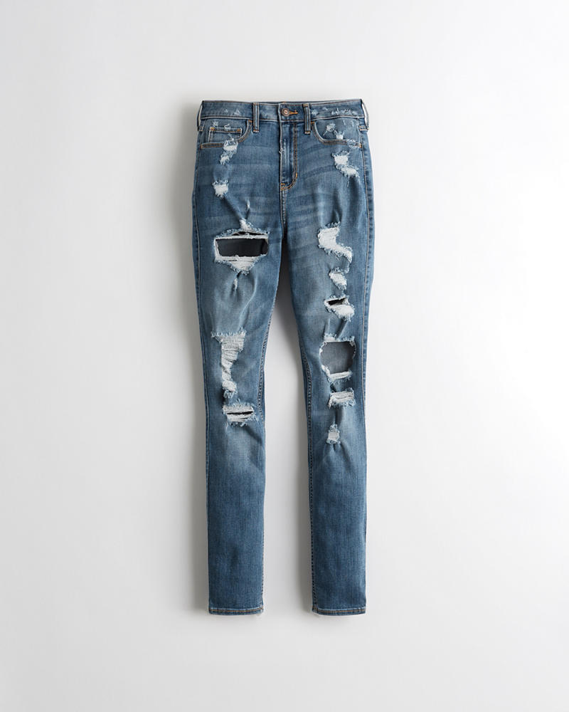 Girls Curvy Classic Stretch High-Rise Super Skinny Jeans