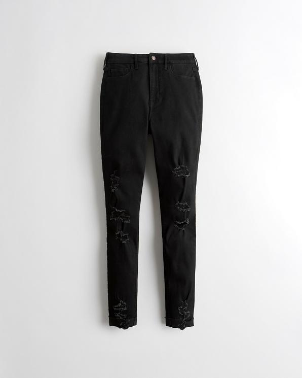 Chicas Jeans Superajustados Con Elasticidad Clásica De Tiro