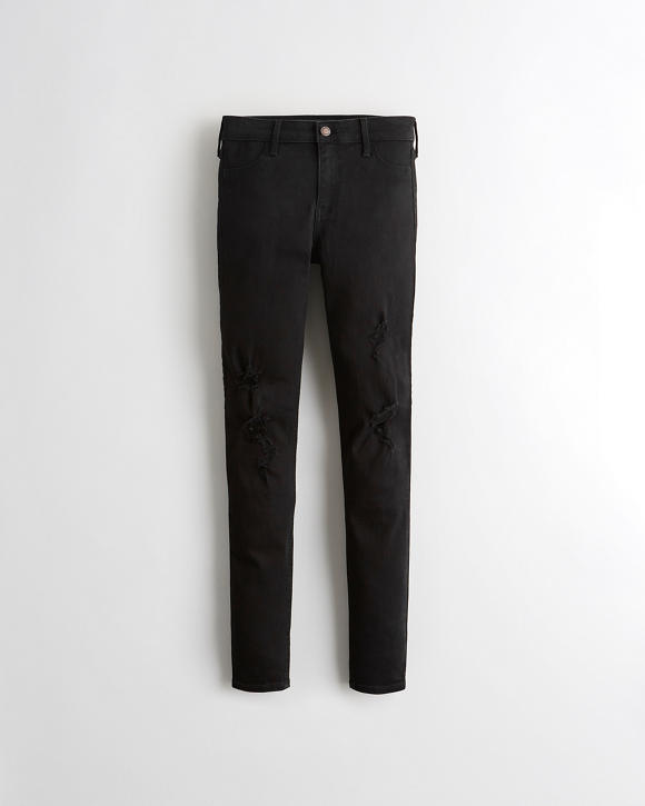 Advanced Stretch Mid Rise Jean Leggings by Hollister