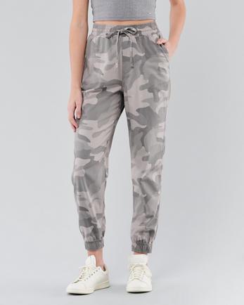 Nouveau Vert Clair Camouflage Slim Stretch Skinny Jeans Cropped Court Pantalon Coupe
