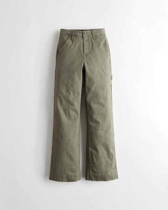 Ultra High Rise Wide Leg Utility Pants by Hollister